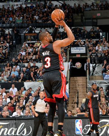2014 NBA Finals Game Five: Jun 15, Miami Heat vs San Antonio Spurs - Dwayne Wade