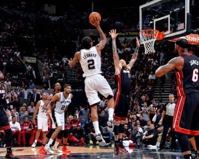 2014 NBA Finals Game Five: Jun 15, Miami Heat vs San Antonio Spurs - Kawhi Leonard
