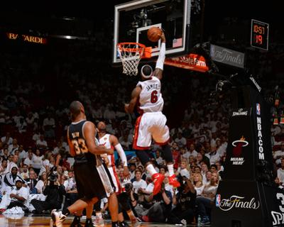 2014 NBA Finals Game Four: Jun 12, Miami Heat vs San Antonio Spurs - Lebron James