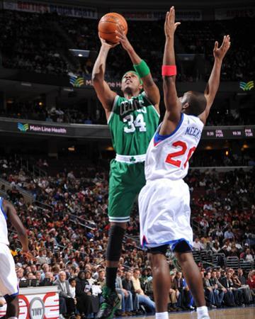 Boston Celtics v Philadelphia 76ers: Paul Pierce and Jodie Meeks