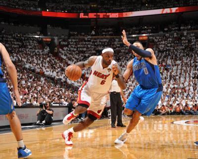 Dallas Mavericks v Miami Heat - Game Two, Miami, FL - JUNE 2: LeBron James and Shawn Marion