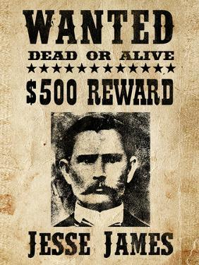 Jesse James Wanted Advertisement