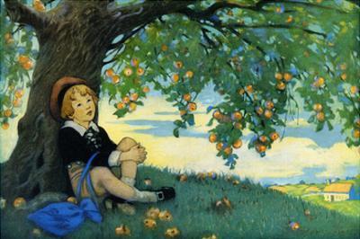 Boy under an Apple Tree