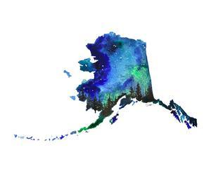 Alaska State Watercolor by Jessica Durrant