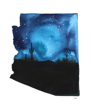 Arizona State Watercolor by Jessica Durrant