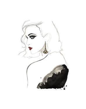 Art Deco Vamp Girl Earring by Jessica Durrant