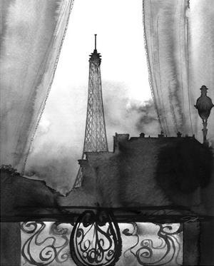 Here's Looking at You Paris (B/W) by Jessica Durrant