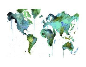 Watercolor Map No. 6 by Jessica Durrant