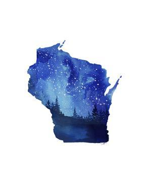 Wisconsin State Watercolor by Jessica Durrant