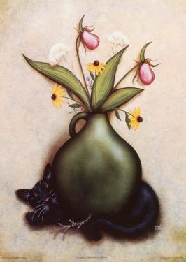 Cat & Vase I by Jessica Fries
