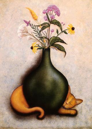 Cat & Vase II by Jessica Fries