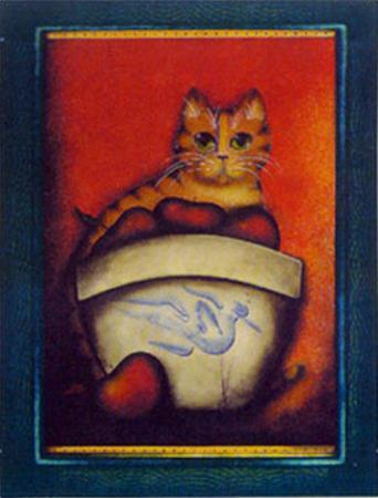 Framed Cat III by Jessica Fries