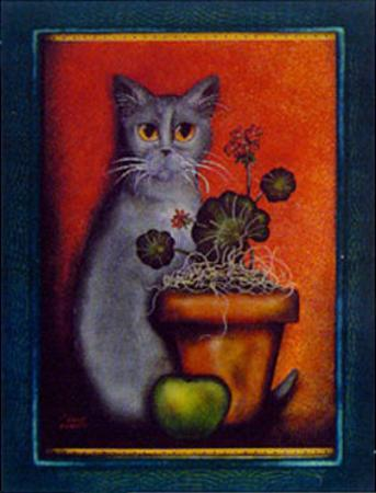 Framed Cat IV by Jessica Fries