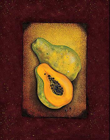 Tropical Fruit - Papaya by Jessica Fries
