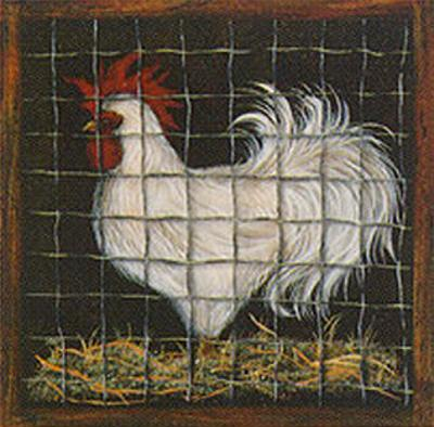 White Rooster by Jessica Fries