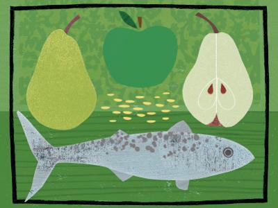 Pear, Apple and Fish