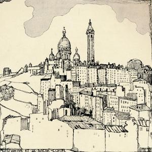 Montmartre and the Sacré-Coeur, 1915 by Jessie Marion King