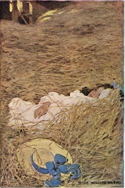 A Girl in a Hayloft, from 'A Child's Garden of Verses' by Robert Louis Stevenson, Published 1885 by Jessie Willcox-Smith