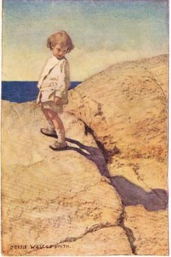 Child and their Shadow, from 'A Child's Garden of Verses' by Robert Louis Stevenson, Published 1885 by Jessie Willcox-Smith