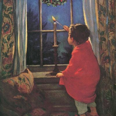 Child Lighting Candle