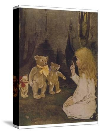 Goldilocks Gives Three Teddy Bears a Talking-To