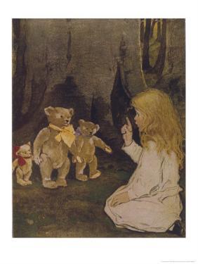 Goldilocks Gives Three Teddy Bears a Talking-To by Jessie Willcox-Smith
