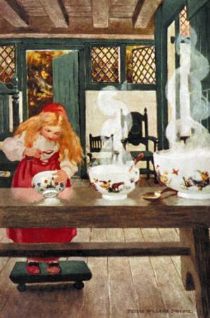 Goldilocks by Jessie Willcox-Smith