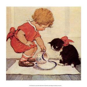 Milk for Kitty by Jessie Willcox Smith