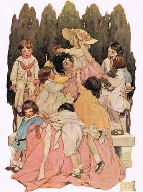 Mother and Children, from 'A Child's Garden of Verses' by Robert Louis Stevenson, Published 1885 by Jessie Willcox-Smith