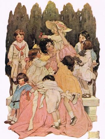 Mother and Children, from 'A Child's Garden of Verses' by Robert Louis Stevenson, Published 1885