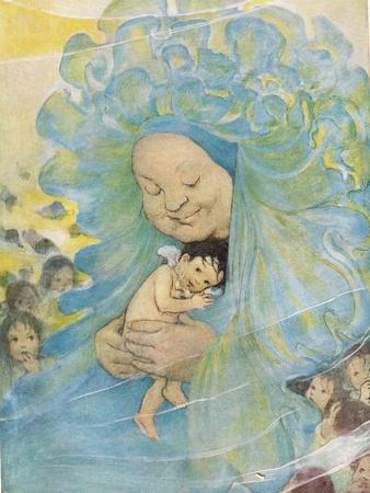 Mrs Doasyouwouldbedoneby, Illustration for 'The Water Babies' by Reverend Charles Kingsley