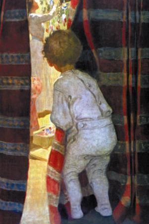 Peeping Into the Parlor by Jessie Willcox-Smith