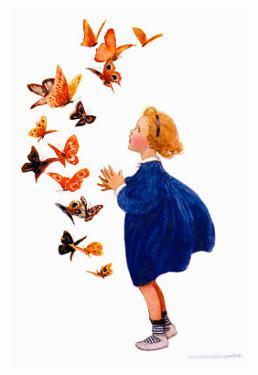 The Butterflies by Jessie Willcox-Smith