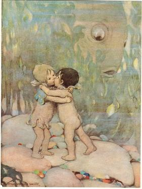 Tom and Ellie, Illustration from 'The Water Babies' by Reverend Charles Kingsley by Jessie Willcox-Smith