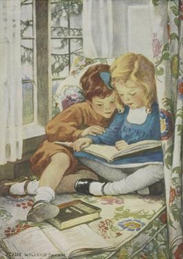 Young Boy and Girl by Jessie Willcox-Smith