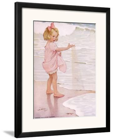 Young Girl in the Ocean Surf