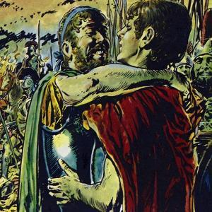 Alexander Joined His Father in Battle Against the Greeks by Jesus Blasco