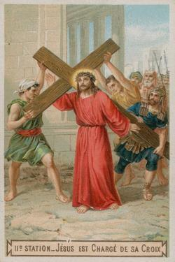 Jesus Carries His Cross. the Second Station of the Cross