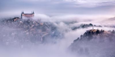 Toledo city foggy morning by Jesús M. García