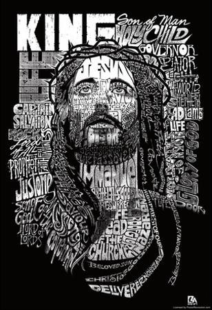 Jesus Names Text Poster