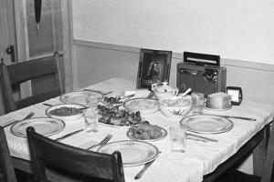Jesus Watches over the Dinner Table, Ca. 1956