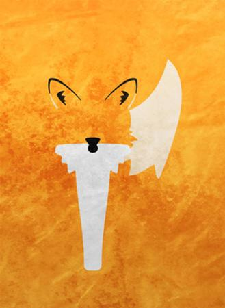 Fox - Jethro Wilson Contemporary Wildlife Print by Jethro Wilson