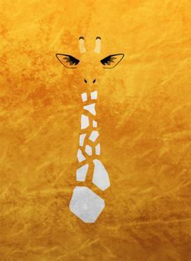Giraffe - Jethro Wilson Contemporary Wildlife Print by Jethro Wilson