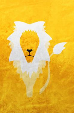 Lion - Jethro Wilson Contemporary Wildlife Print by Jethro Wilson