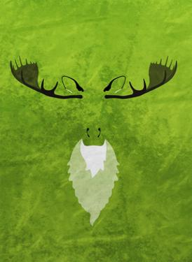 Moose - Jethro Wilson Contemporary Wildlife Print by Jethro Wilson