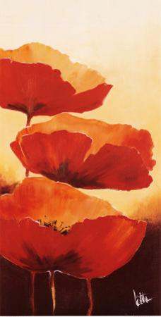 Three Red Poppies I by Jettie Rosenboom