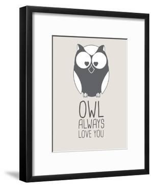 Beige Owl Always Love You by Jetty Printables