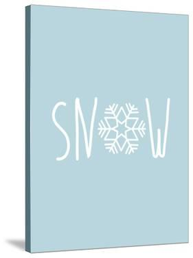 Blue White Snow Snowfake by Jetty Printables