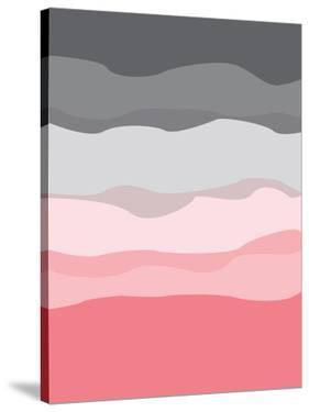 Coral Gray Abstract by Jetty Printables