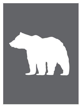 Gray White Bear by Jetty Printables